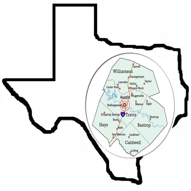 Central Texas Map